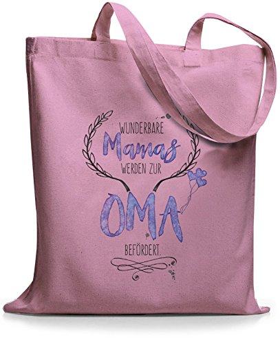 StyloBags Jutebeutel / Tasche Wunderbare Mamas werden zur Oma befördert Rosa