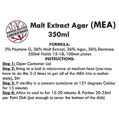 Malt Extract Agar (MEA), 350 Milliliters - Sterilized: Toys & Games