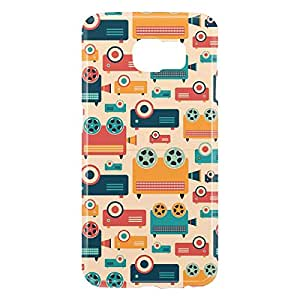 Loud Universe Samsung Galaxy S6 3D Wrap Around Retro Pattern Video and Film Print Cover - Multi Color