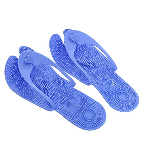 Aolvo Therapeutic Acupressure Massage Slippers, Massage Flip Flops Men Women Comfortable Athletic Thong Sandals Sports Slipper Walking Shoes Foot Relaxation Massager Plantar Fasciitis Relief