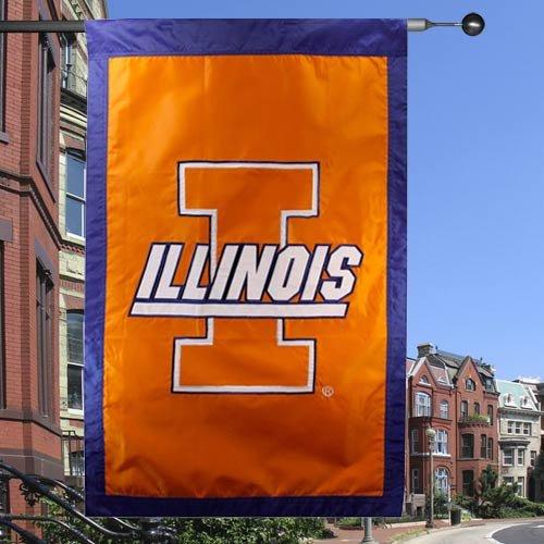 NCAA Illinois Fighting Illini Orange 28'' x 44'' Team Logo Applique (Ncaa Team Appliques)
