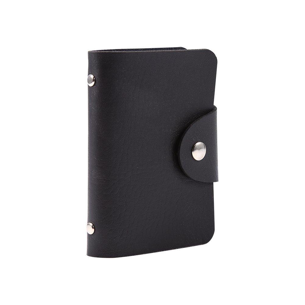 1PC copertura porta biglietti da visita tascabile di credito borsa in pelle PU per 24carte Blue Zerone