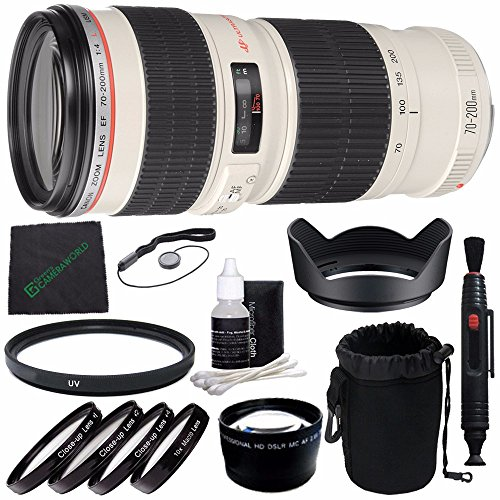 Canon EF 70-200mm f/4L USM Lens + SLR Lens Pouch + Lens Cleaning Pen