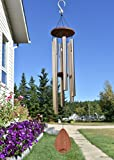 """Like deep thoughts blowing in the wind, the Havasu Large Wind Chime from UpBlend Outdoors is 38"""" total length, hand-tuned, and beautiful as a gift or for your patio, garden, and outdoor home décor."""