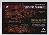 Federation Runabout Technical Data (Trading Card) 1993 SkyBox Star Trek Deep Space Nine - [Base] #91