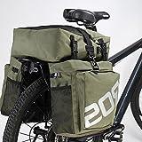 Roswheel Waterproof Bike Pannier Bags - 37L Waterproof 3 in 1 Bike Rear Seat Bag Accessories for Luggage, Mountain, Road, Cycling Sport