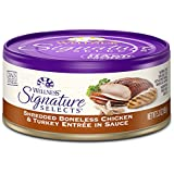 Wellness Signature Selects Grain Free Shredded Chicken & Turkey Natural Wet Canned Cat Food, 5.3-Ounce Can (Pack of 24)