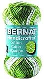 Bernat Handicrafter Cotton Stripes Yarn, 1.5 Ounce, Lime, Single Ball