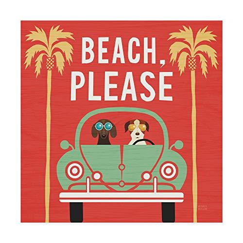 Trademark Fine Art Beach Bums Beetle I Square by Michael Mullan, ()