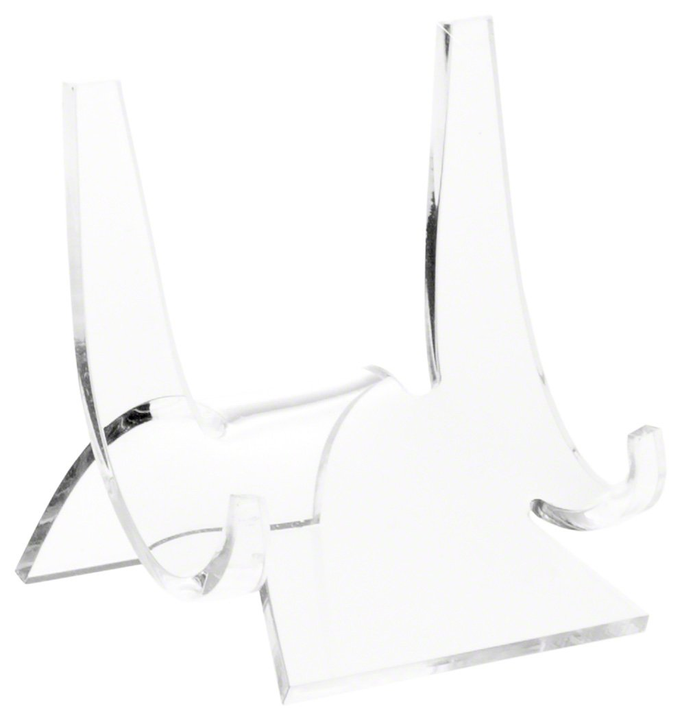 Plymor Brand Clear Acrylic Clear Double-Scoop Easel - 3'' H x 2.875'' W x 2.5'' D