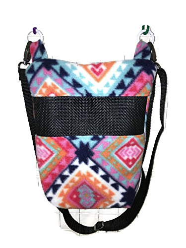 - Bonding and Carrying Bag for Sugar Gliders or Other Small Pets - in Multi-Colored Geometric Print