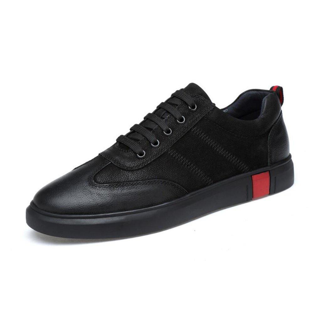 New Zapatos de Tablero de Cuero para Hombres Primavera/Otoño/Invierno Comodidad/Diario/Oficina Zapatos Casuales de Cuero Ocasionales Zapatos para Caminar para Hombres EU Size 40 EU|Negro