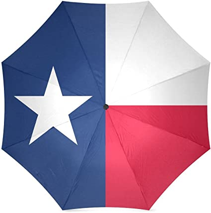 Texas State Flag Folding Windproof outdoor Travel Umbrella for Women