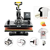 "CO-Z 8 in 1 12"" X 15"" Heat Press 360 Degree Swivel Heat Press Machine Multifunction Sublimation Combo T Shirt Press Machine for Mug Hat Plate Cap Mouse Pad 1250W"
