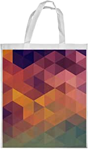 Color Triangles Printed Shopping bag, Medium Size