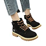 Hemlock Women Lace Up Hiking Climbing Boots Outdoor Flat Military Boots Shoes Retro Cowboy Martin Boots