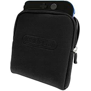 iGadgitz Black Neoprene Sleeve Protective Travel Pouch Carry Case Cover for Nintendo 2DS