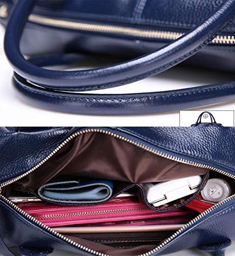 Size In Capienza Mano Blu Brown Acvxz Vintage Grande Con Tracolla colore Di Stile A Manici Borsa One Dimensioni axavqUg0