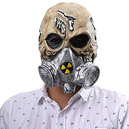 - Adults Halloween Carnival Easter Novelty Mask Costume Gas Biochemical Skull Mask Party Cosplay Props