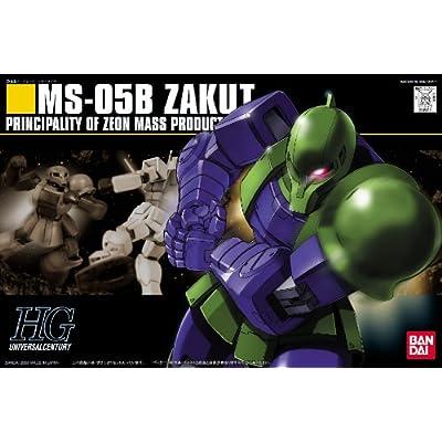 Bandai Hobby #64 MS-05B ZAKU I, Bandai HGUC Action Figure: Toys & Games