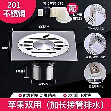 Desodorante desagüe en el piso baño de acero inoxidable ...