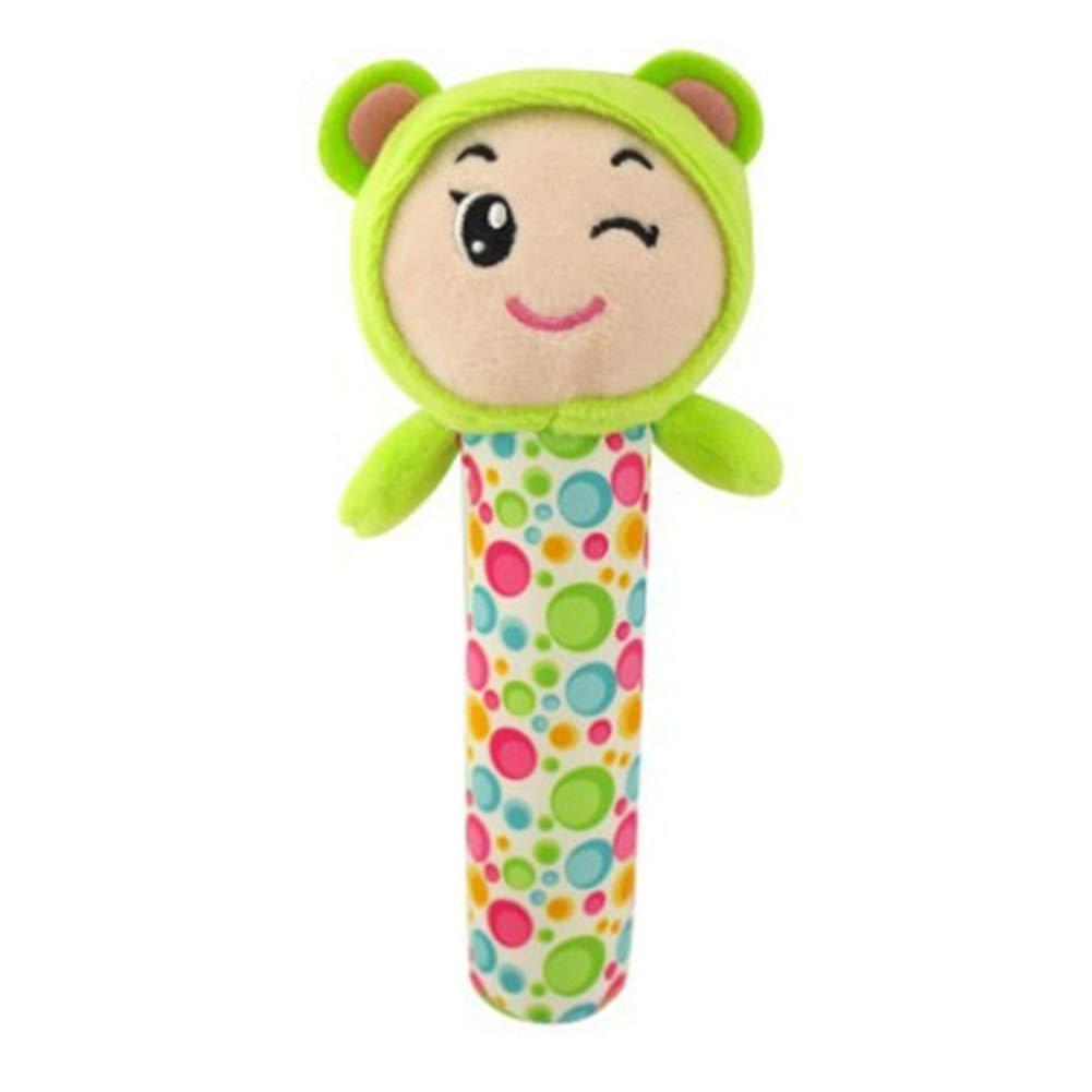 DDG EDMMSbebé divertido juguete música de la historieta del juguete de campana mango juguete sonajero cuna animal de peluche del cochecito de niño del juguete que cuelga oso del bebé del niño
