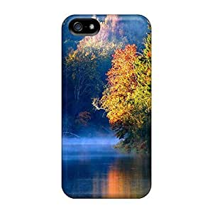 For Iphone Case, High Quality Misty River In Autumn In Latvia Case For Sam Sung Note 3 Cover Cases