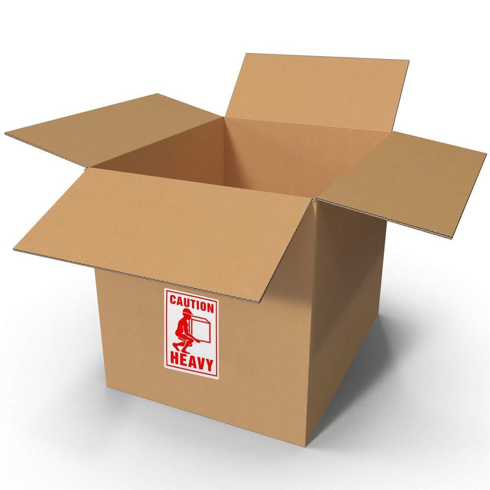 BeMatik Rotoli Bobina 500 etichettes adesive per spedizioni di Colli Pesanti 75x100 mm Heavy