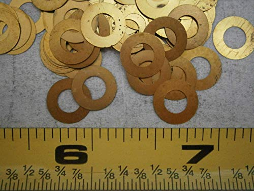 - Flat Washers .375'' OD .190'' ID .033'' Thick Brass LOT of - 65#1709 - Quality Assurance from JumpingBolt