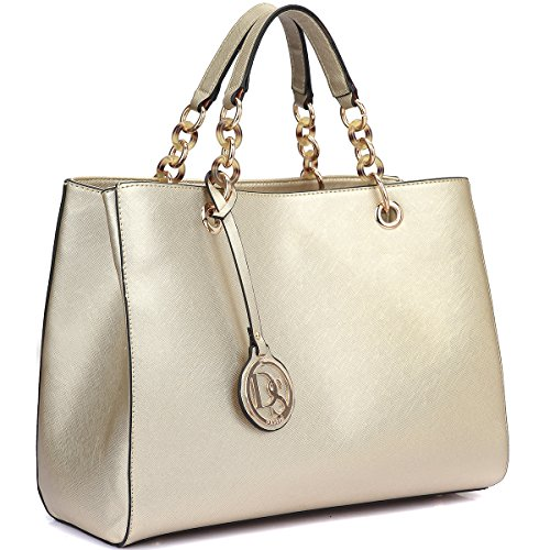 387f3f767c79 Dasein Saffiano Faux Leather Chain Strap Satchel 85%OFF ...