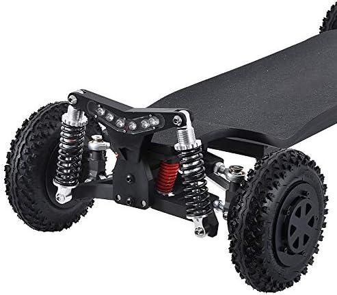 CuiCui Planche À roulettes Électrique Télécommande Haute Performance À Quatre Roues Scooter Électrique Tout Terrain À Deux Roues Motrices