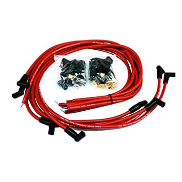 Amazon.com: 9.5 mm Red 90 Degree Spark Plug Wires For Distributor ...