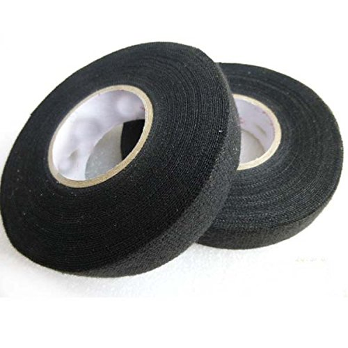 LOOYUAN 2pcs Wiring Loom Harness Adhesive Cloth Fabric Tape 19mm/25m