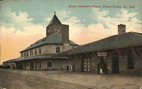 Great Northern Depot - Great Northern Depot Grand Forks, North Dakota Original Vintage Postcard