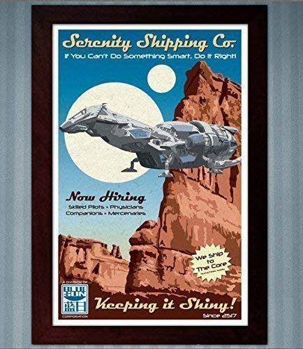 Serenity Shipping Co. (Firefly) - Advertisement Poster - 11x17