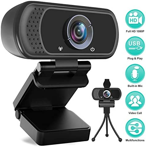 HUE HD Pro Video Camera Computer Laptop Macs High-Resolution USB Webcam Red