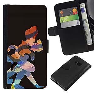 All Phone Most Case / Oferta Especial Cáscara Funda de cuero Monedero Cubierta de proteccion Caso / Wallet Case for HTC One M9 // Kiss Fairy Tale Prince Princess Art Drawing