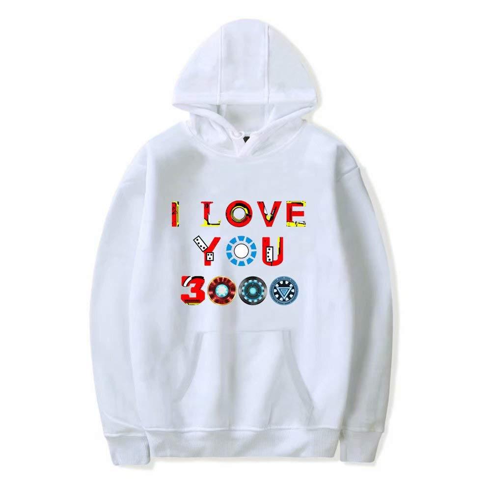 Pap/á te Quiero 3000 Hoodie Padres d/ía Regalos Tony Stark Jersey Vintage Unisex Sweatershirt para Hombres y Mujeres