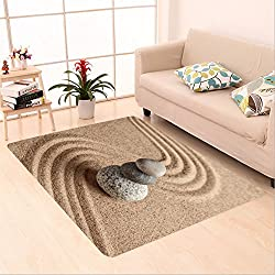 Sophiehome skid Slip rubber back antibacterial Area Rug japanese zen stone garden relaxation meditation simplicity and balance concept pebbles and 245438209 Home Decorative