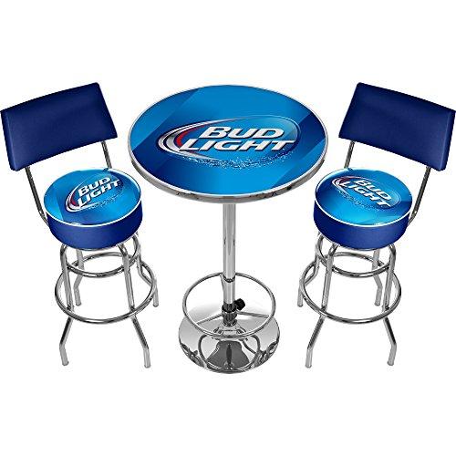 Bud Light Ultimate Gameroom Combo - 2 Bar Stools with Back & Pub Table (Wayfair Pub Table)