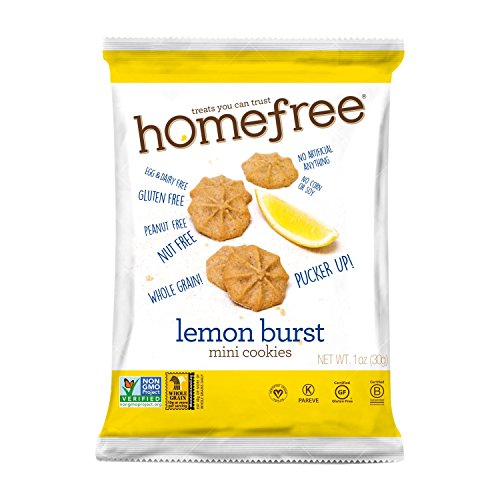 Homefree Treats You Can Trust Gluten Free Mini Cookie Bag, Lemon Burst, 1 Ounce (Pack of 10) ()