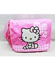 Licensed Hello Kitty PINK Messenger Bag / Shoulder Bag - HEART