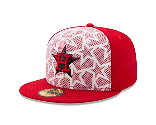MLB Houston Astros Men's 2016 Stars & Stripes 59Fifty Fitted Cap, Size 7 1/2, Scarlet