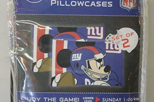 Giants Mickey Mouse (New York Giants 2 Standard Pillow Cases Mickey Mouse)