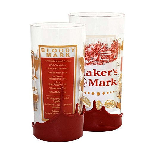 Maker's Mark Bloody Mary Recipe Wax Dipped High Ball Drinking Glass ()