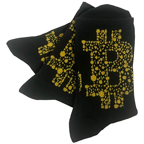 Bitcoin Socks Cryptocurrency Unisex Crypto Novelty Dress Sock