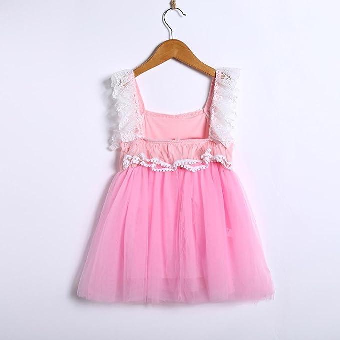 DRESS_start Vestido Para niñas Vestidos Roso De Sin Mangas De Princesa Para 2-6 años, : Amazon.es: Ropa y accesorios