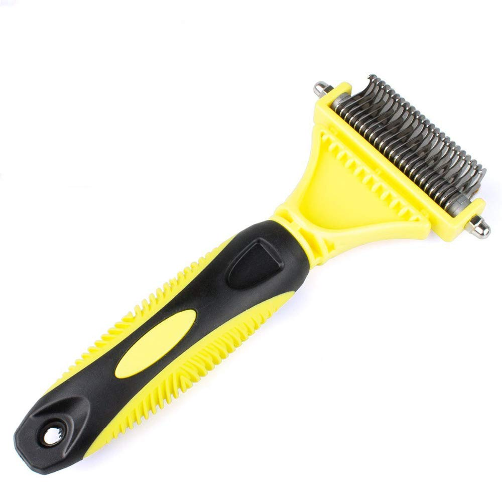 Y&J Stainless Double-Sided Pet Cat Dog Comb Brush Professional Large Dogs Open Knot Rake Knife Pet Grooming Products