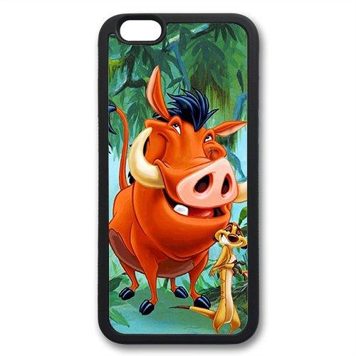 Coque silicone BUMPER souple IPHONE 6 PLUS / 6s PLUS - Roi Lion Simba Pumba the Lion king timon motif 2 DESIGN case+ Film de protection OFFERT