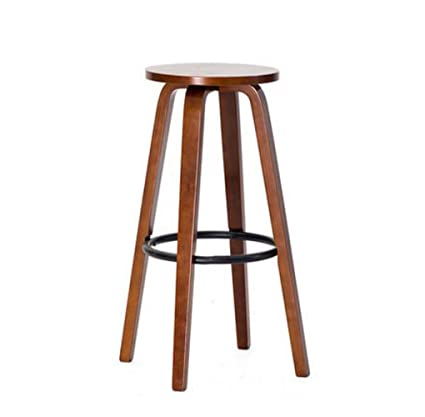 Amazoncom Jbhurf Wooden Bar Chair Round High Stool Bar Stool Home